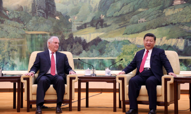 U.S. Secretary of State Rex Tillerson meets with President Xi Jinping in Beijing, China, on March 19, 2017. [State Department photo/Public Domain]