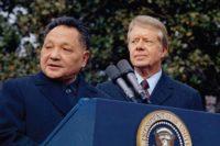 1979年,吉米·卡特总统和中国高级领导人邓小平在华盛顿 (照片来源:美联社)