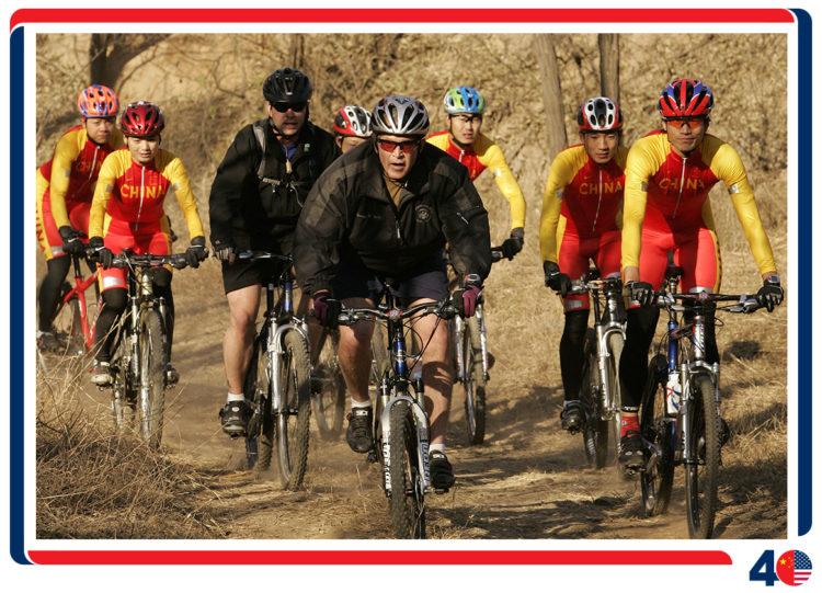 2005年,布什总统任内第三次到访中国