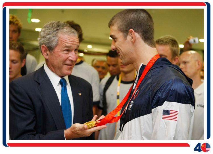 2008年8月,乔治·W·布什总统最后一次在任内前往中国
