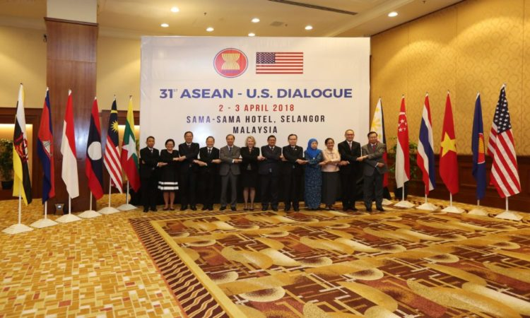 Assistant Secretary Thornton with ASEAN officials.