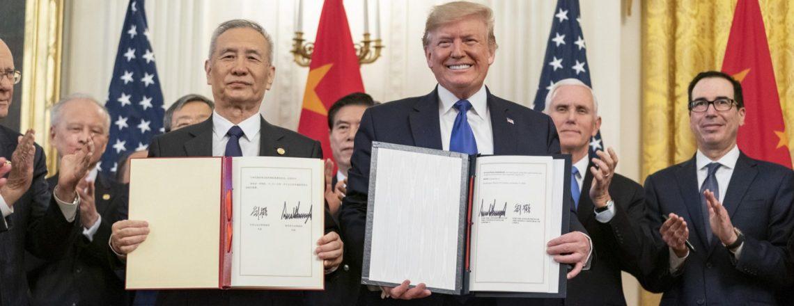 唐纳德·特朗普总统签署与中国达成的里程碑式的第一阶段贸易协议