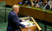 President Donald Trump addresses the 74th session of the United Nations General Assembly