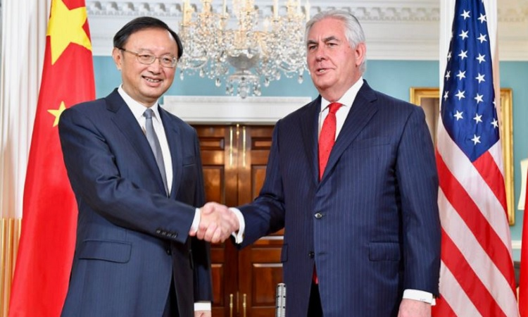 Secretary Tillerson and Chinese State Councilor Yang Jiechi Prepare to Address Reporters in Washington