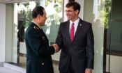 Secretary of Defense Mark Esper Meet with PRC Minister of National Defense General Wei Fenghe on November 18
