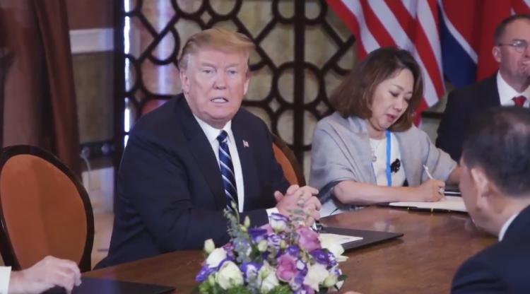 特朗普总统与金正恩委员长1对1的讲话
