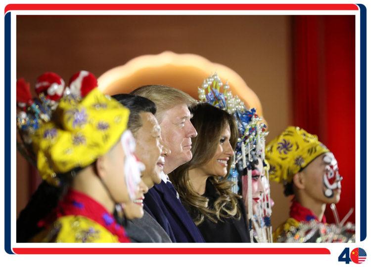 特朗普总统首次访问中国