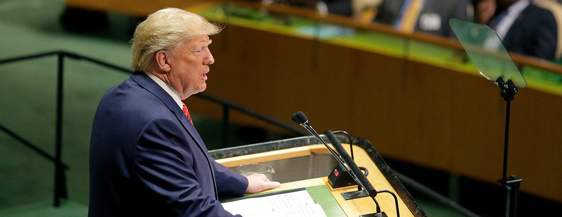 特朗普总统在第74届联合国大会上的讲话