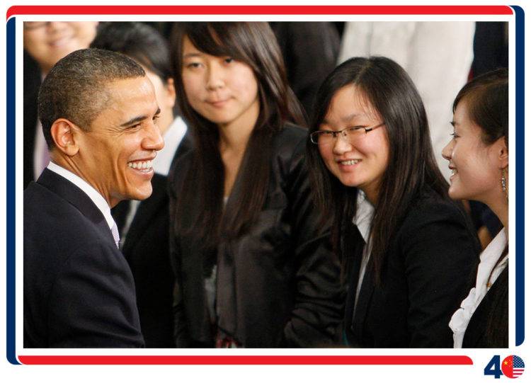 President Barack Obama made three trips to China while President
