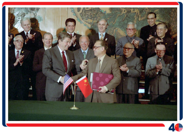 President Reagan and Chinese Premier Zhao Ziyang