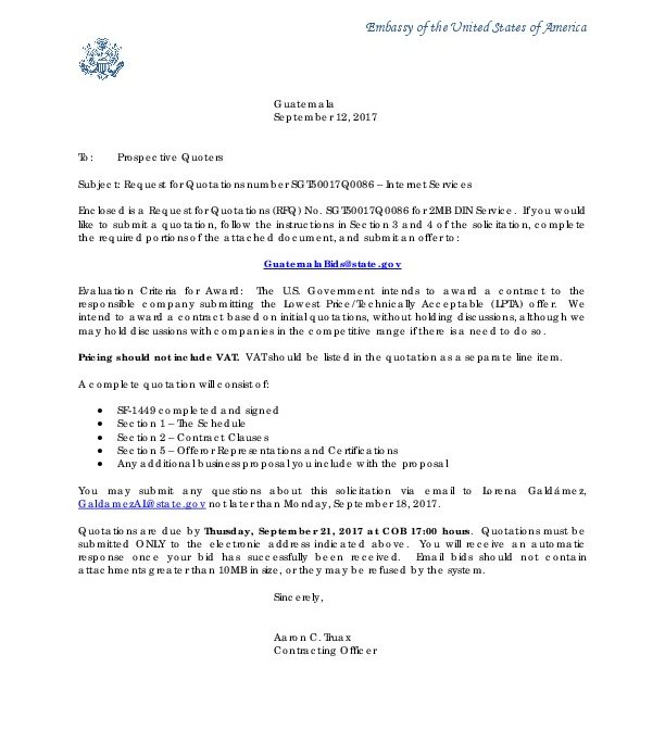0086 Invitation Letter | U.S. Embassy in Guatemala