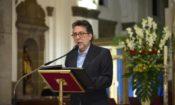 Embajador Luis E. Arreaga en su discurso en Catedral por el Concierto de Organo