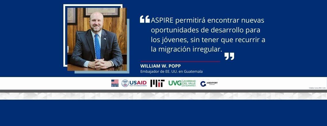 Embajador Popp participó en lanzamiento de iniciativa ASPIRE en UVG
