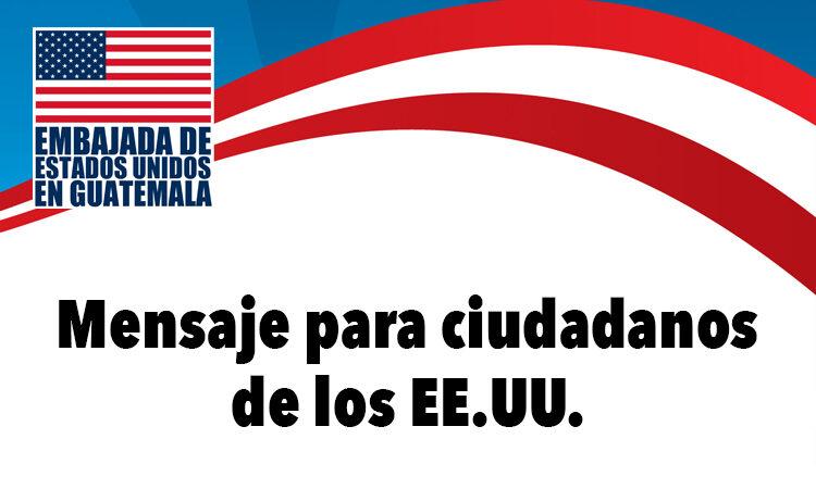 mesaje para ciudadanos de los EE.UU.