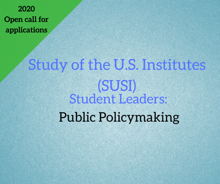SUSI:  Student Leaders - Public Policy