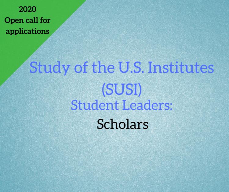 Study of the U.S. Institutes (SUSI) for Scholars