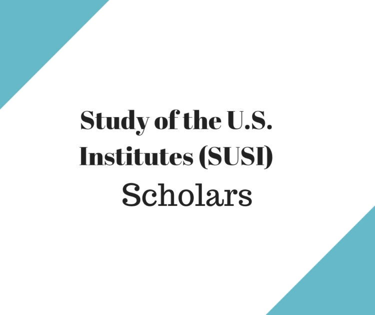 Study of the U.S. Institutes (SUSI) for Scholars