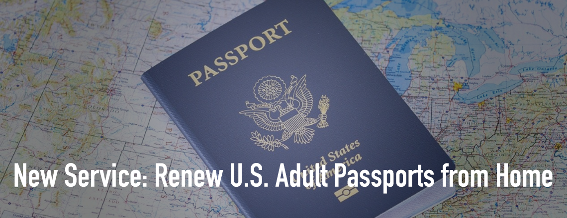 Renew U.S. Adult Passports by Home