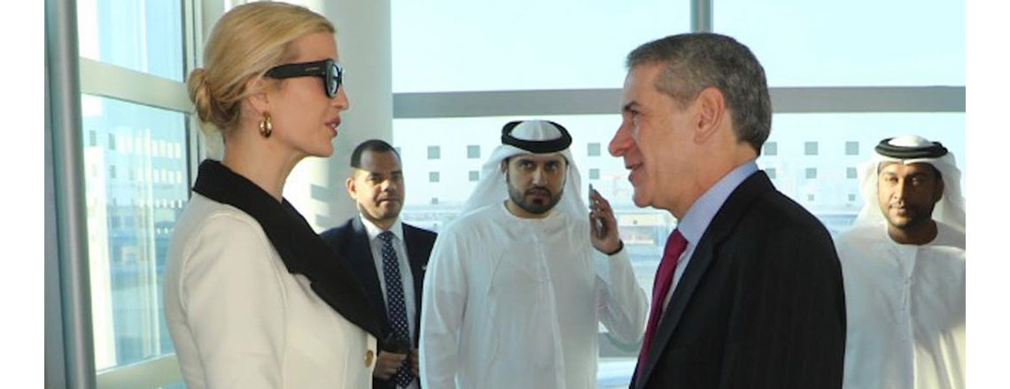 Consul General Philip Frayne welcomes Advisor to the President Ivanka Trump in Dubai