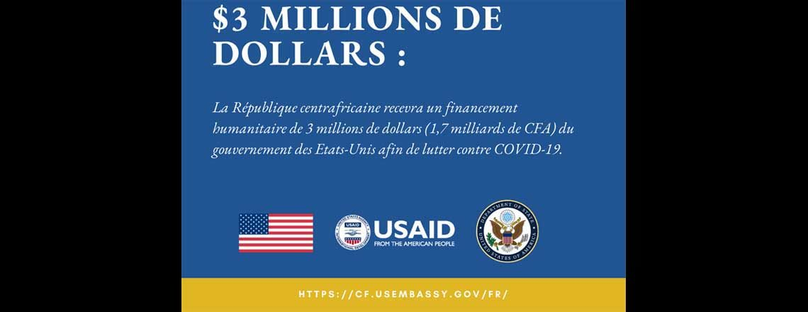Les États-Unis mènent la riposte au COVID-19 en matière d'aide humanitaire et sanitaire