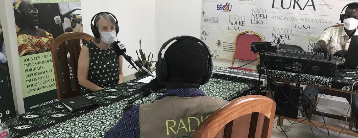L'ambassadeur Tamlyn en interview avec Radio Ndeke Luka
