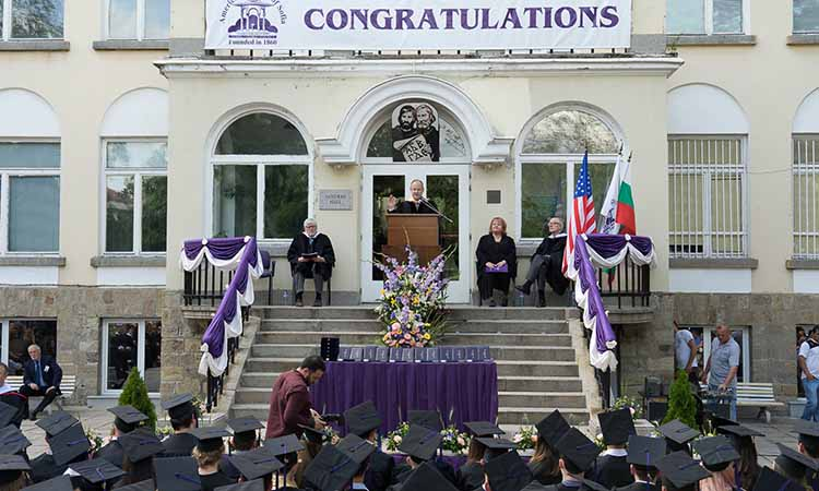 Ambassador Eric Rubin Congratulates Class 2017 from the American College of Sofia