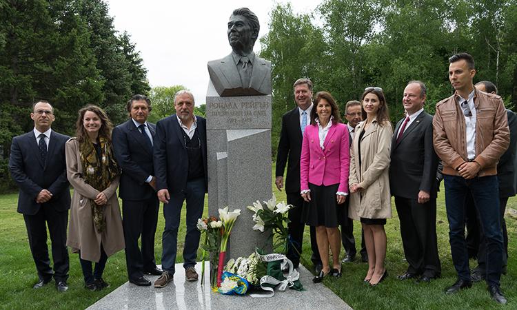 Откриване на паметника на Роналд Рейган в София