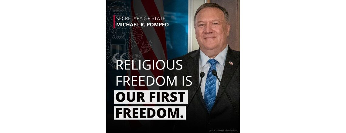 Secretary Pompeo: Religious Freedom is our 'First Freedom'