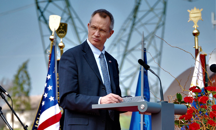 Deputy Assistant Secretary of Defense for NATO and EU Thomas Goffus spoke at the memorial about how this annual commemoration is a reminder of the strong alliance between Slovenia and the US.