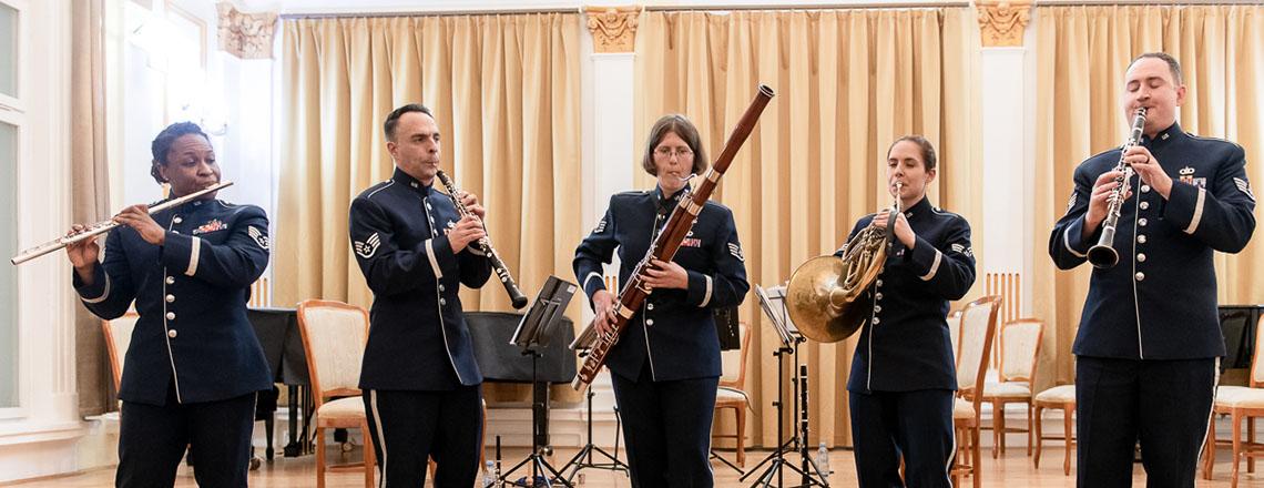 Woodwind Quintet Winds Aloft Touring Slovenia