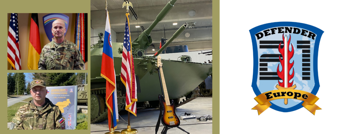 The U.S. and Slovenian Army Bands mark the beginning of DEFENDER-Europe 21