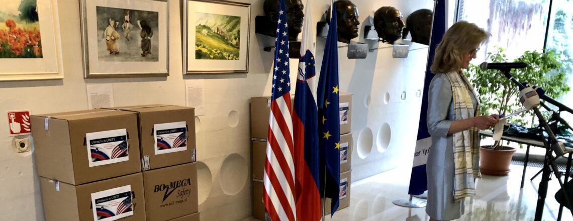 The United States Donates Protective Equipment to Slovenia