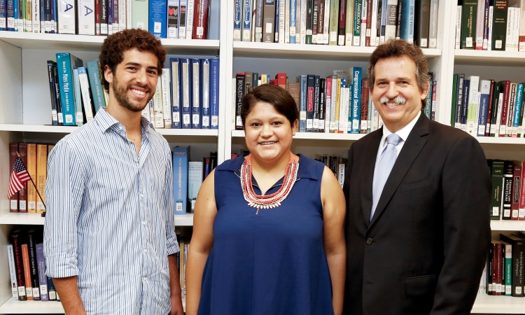 Public Affairs Counselor, Thomas Mesa, with Celeste Medina and Franco Amorosi (Photo: Dept. of State)