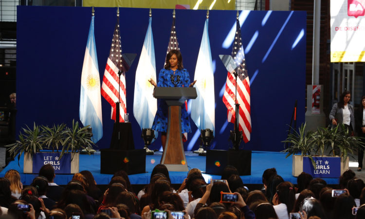 First Lady Michelle Obama at Centro Metropolitano de Diseño in Buenos Aires, Argentina (Photo: Dep. of State)