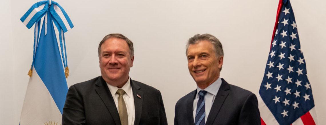 El secretario Pompeo visitó la Argentina y se reunió con el presidente Macri