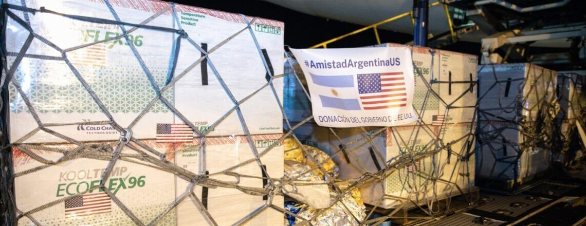 3.5 Million Vaccines from U.S. Arrive in Argentina to Combat COVID-19