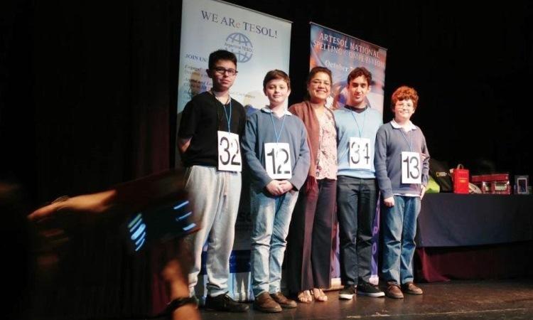 Spelling Bee Contest Winners 2017 with ACAO Naydeen Gonzalez de Jesus