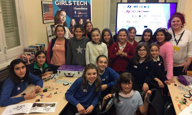 Participantes de #GirlsTech en el American Space Madrid