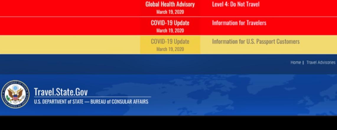 Global Level 4 Health Alert: Do Not Travel