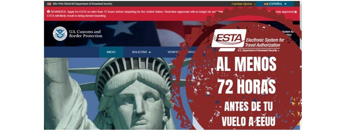 Información sobre ESTA-Programa de Exención de Visado