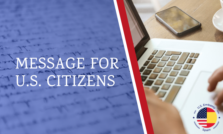 Message for US Citizens