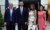 President Trump with Kings of Spain