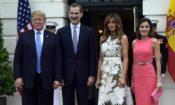 President Trump with Kings of Spain