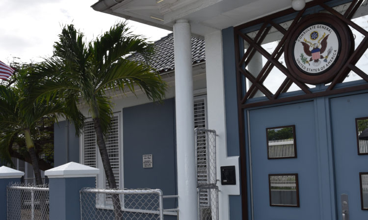 U.S. Consulate General Curacao Front Entrance
