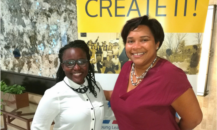Sulin Passial (picture left) from Curacao and Indira Burke (picture right) from Aruba at YLAI in Kingston, Jamaica.