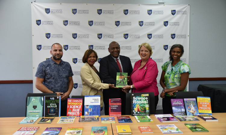 STEM Book Donation at the University of Curacao