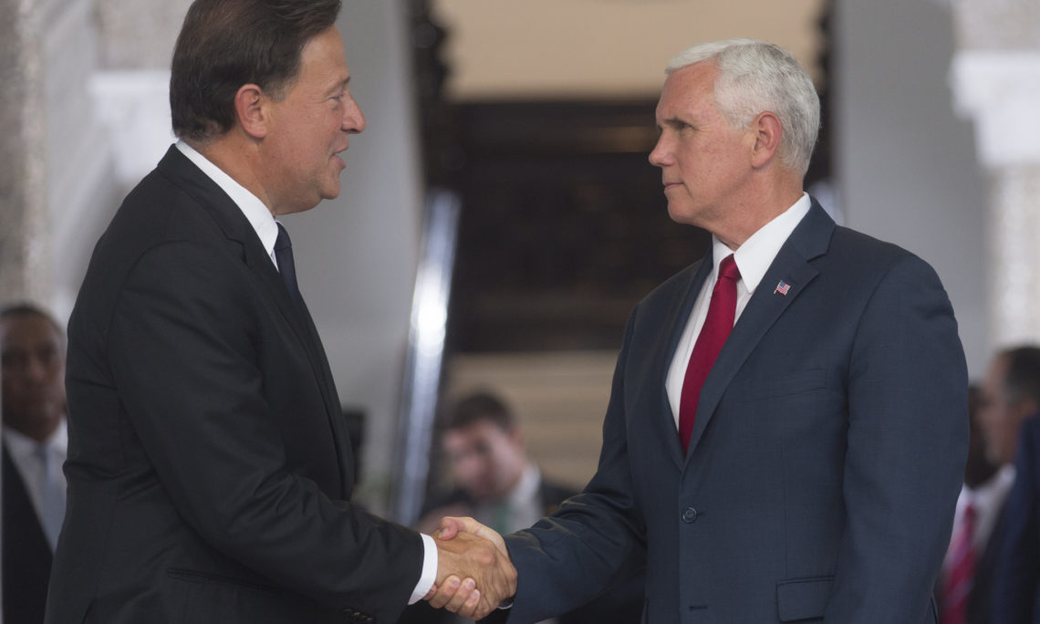 VPOTUS Mike Pence and President Varela