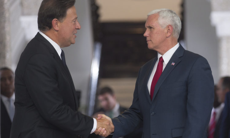 VPOTUS Mike Pence and President Varela