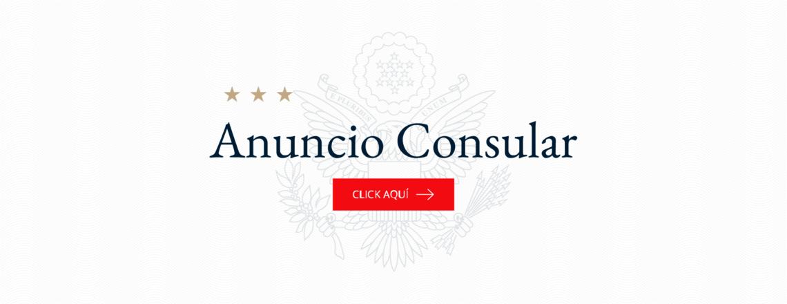 Sección Consular permanecerá cerrada para servicios de rutina