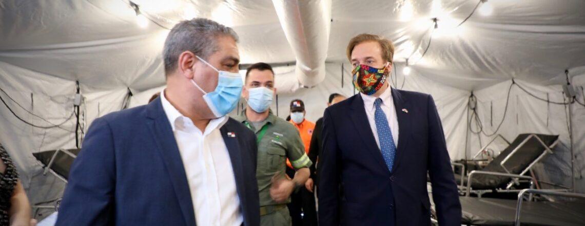 Embajada de Estados Unidos dona a Panamá tres hospitales de campaña para combatir el COVID